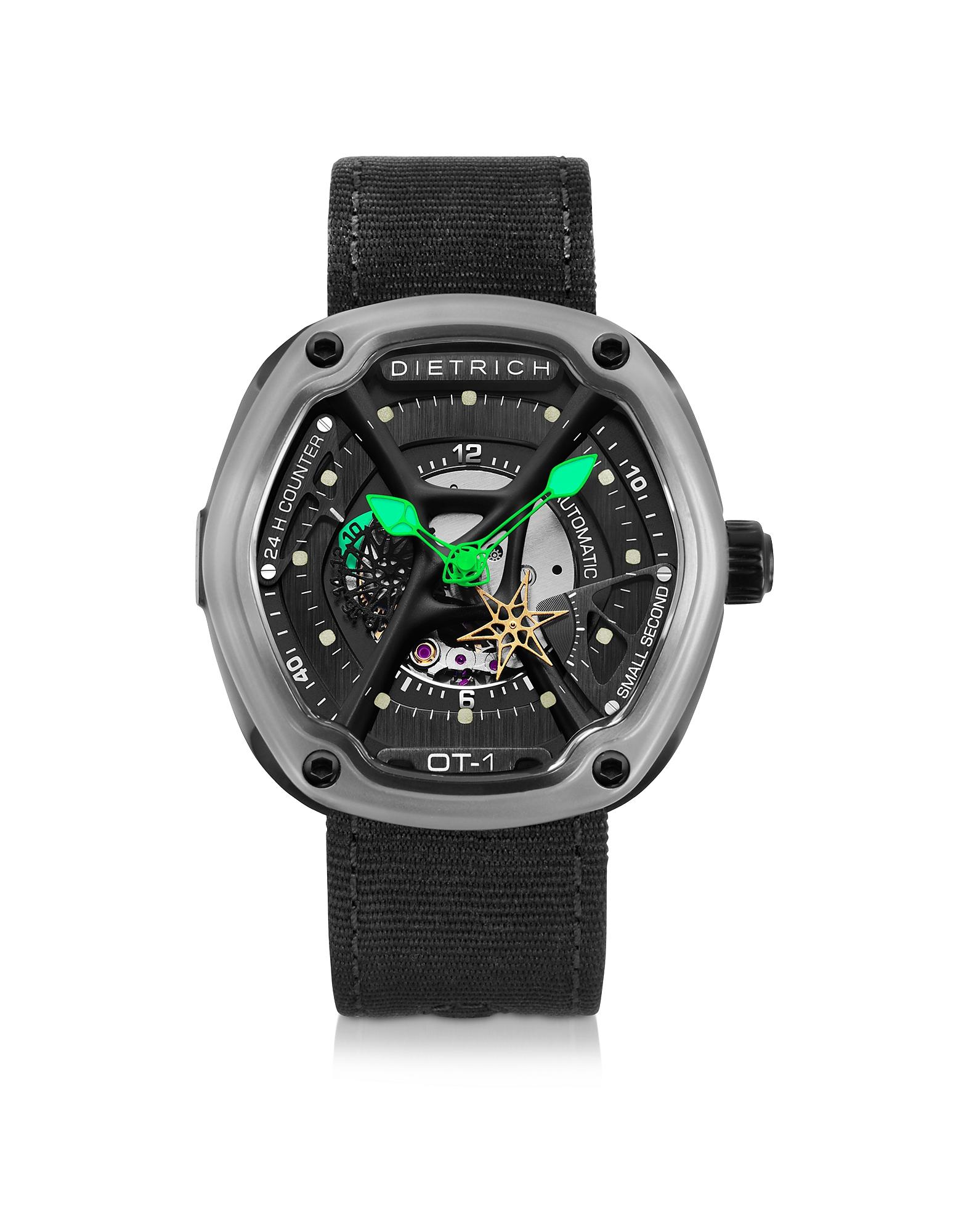 OT-1  316L - Стальные Мужские Часы с Зеленым Luminova и Нейлоновым Ремешком