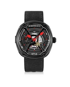 OT-2 316L Steel Men's Watch w/Red Luminova and Nylon Strap