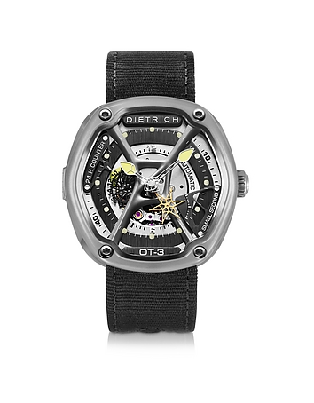 Dietrich - OT-3 316L Steel Men's Watch w/Yellow Luminova and Nylon Strap