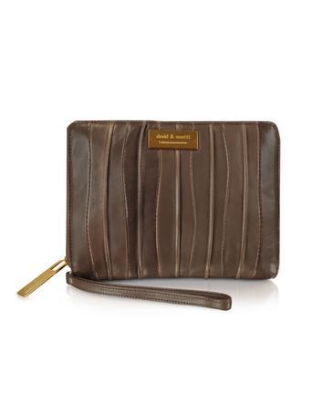 David & Scotti Waterfall - Leather Cosmetic Wallet w/ Wrist Strap