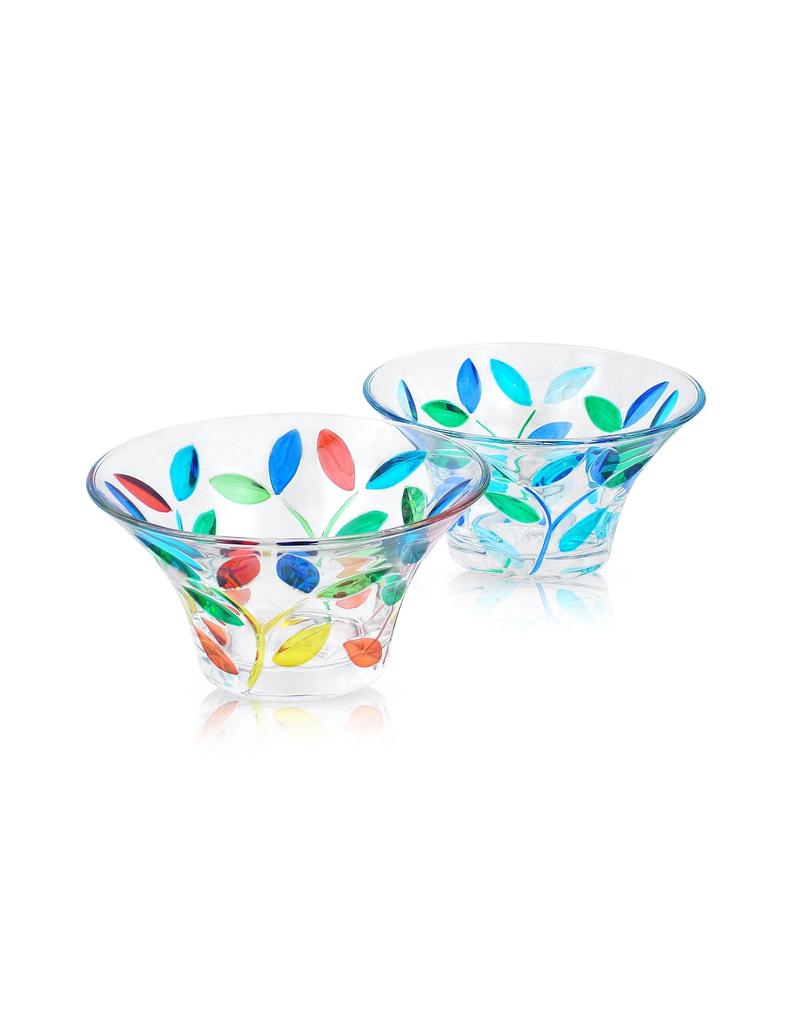 Due Zeta Designer Kitchen & Dining, Rialto - Hand Decorated Murano Glass Small Bowl