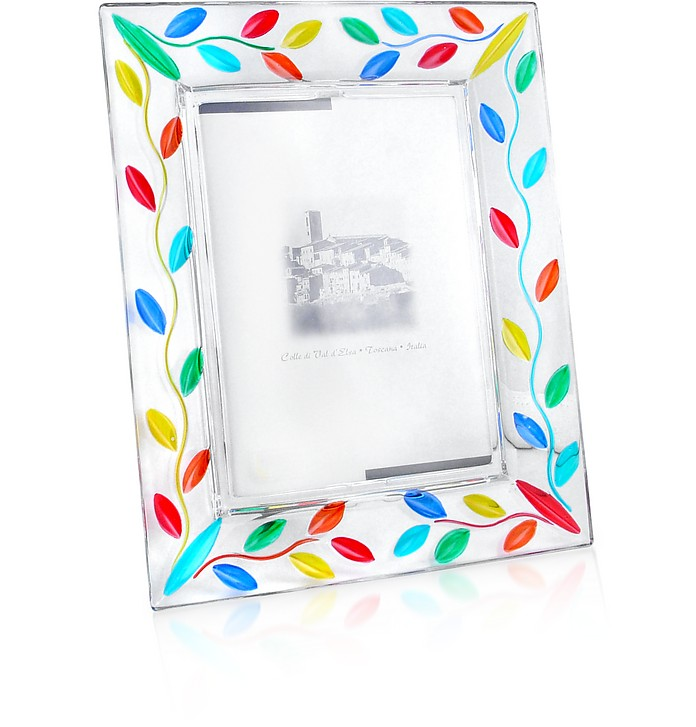 Carnevale - Hand Decorated Murano Glass Picture Frame - Due Zeta