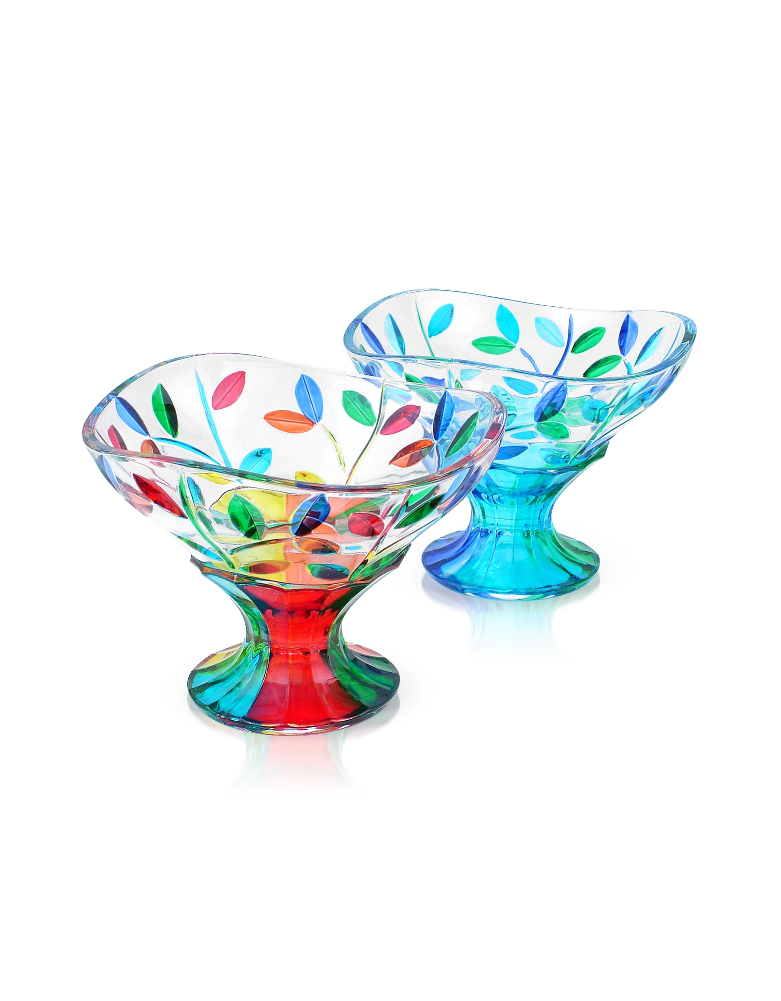 Due Zeta Designer Murano Accents, San Marco - Hand Decorated Murano Glass Dessert Bowl