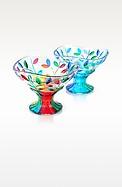 San Marco - Hand Decorated Murano Glass Dessert Bowl  - Due Zeta