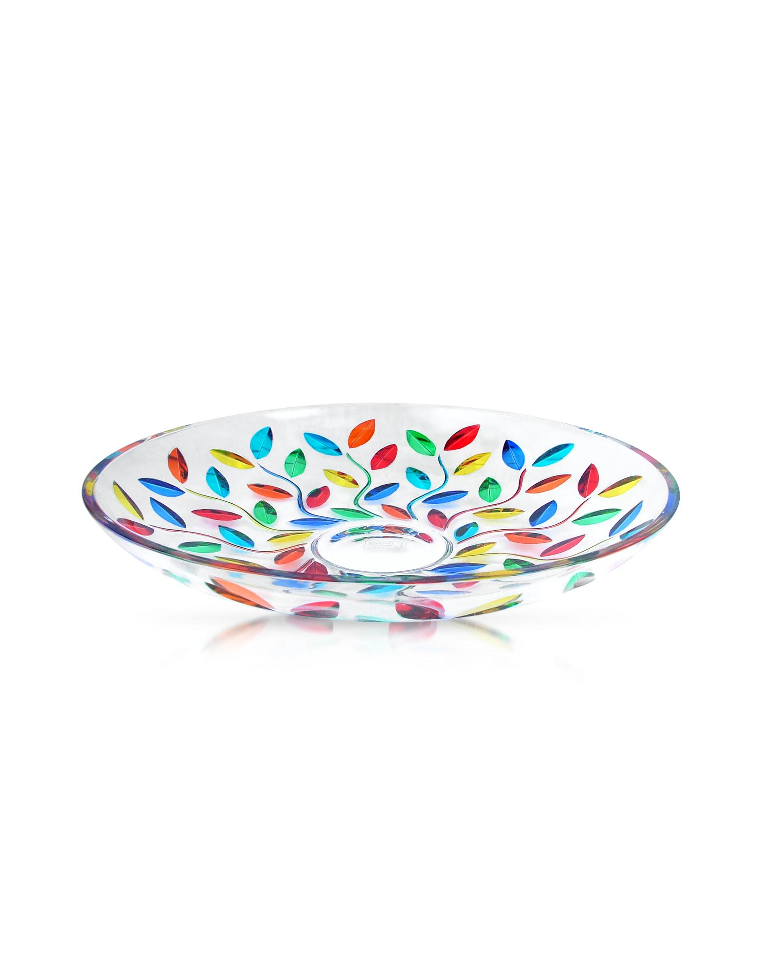 Due Zeta  Doge - Hand Decorated Murano Glass Centerpiece Bowl