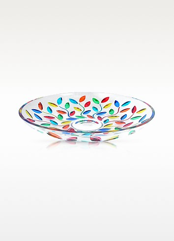 Doge - Hand Decorated Murano Glass Centerpiece Bowl - Due Zeta