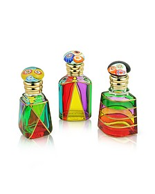 Marco Polo - Hand Decorated Murano Glass Murrina-Capped Perfume Bottles - Due Zeta