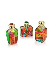 Goldoni - Bouteilles Décoratives à Parfum en Verre de Murano à Bouchon Émail - Due Zeta