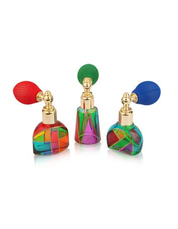 Due Zeta Casanova - Hand Decorated Murano Glass Spray Perfume Bottles