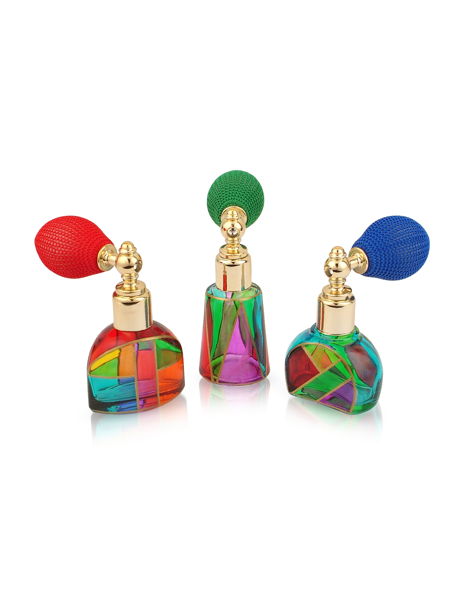 Due Zeta Bath, Casanova - Hand Decorated Murano Glass Spray Perfume Bottles