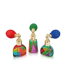 Casanova - Parfümfläschchen aus Muranoglas von Hand dekoriert mit Sprühverschluß - Due Zeta