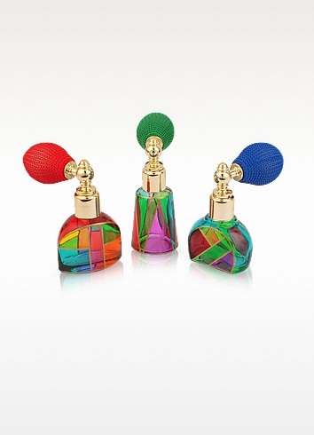 Casanova - Hand Decorated Murano Glass Spray Perfume Bottles - Due Zeta