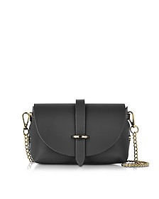Caviar Small Black Leather Shoulder Bag - Le Parmentier