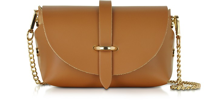 Caviar Small Cognac Leather Shoulder Bag - Le Parmentier