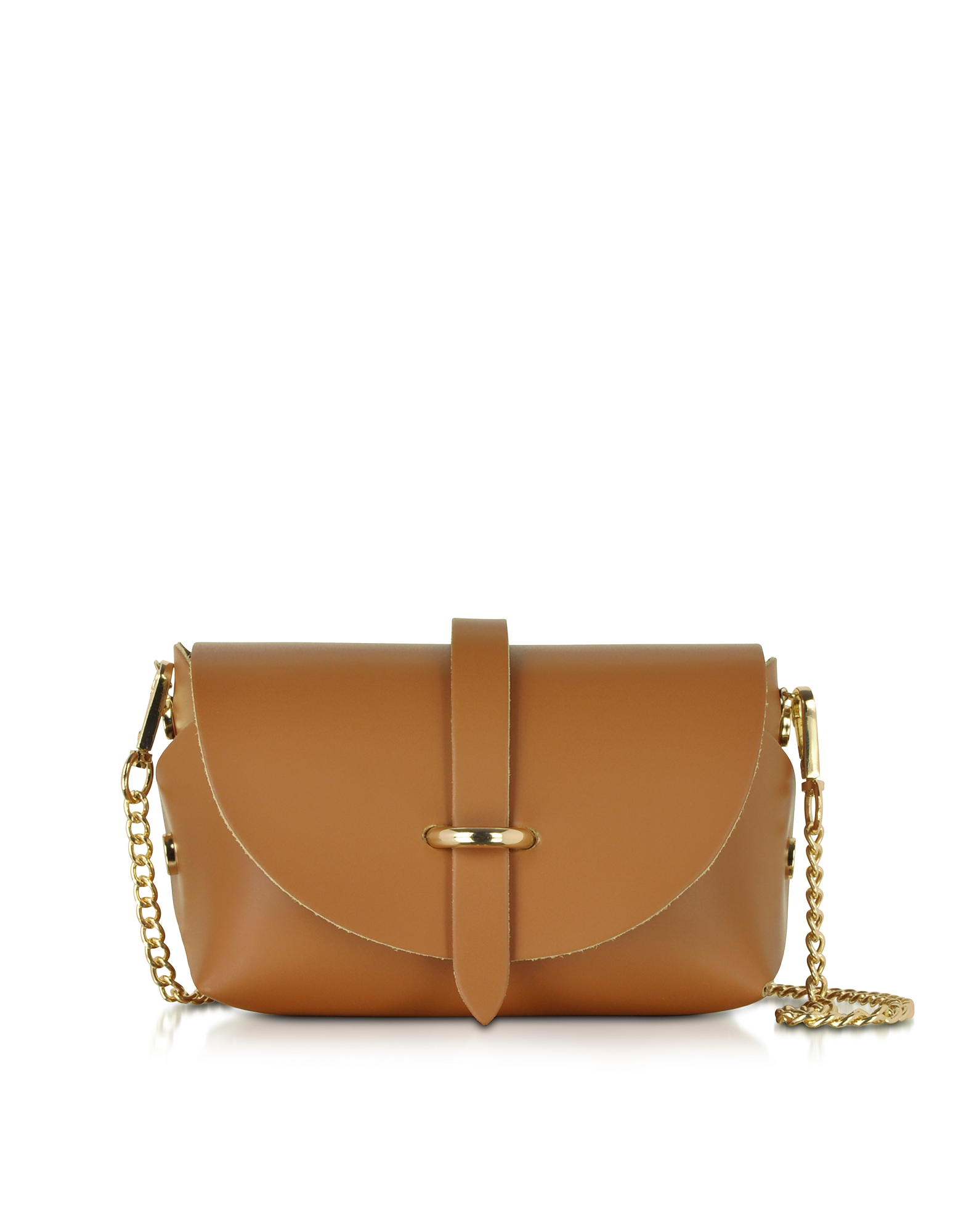 Le Parmentier Handbags, Caviar Small Cognac Leather Shoulder Bag