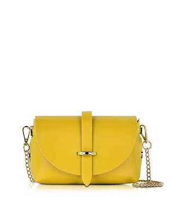 Small Yellow Leather Shoulder Bag