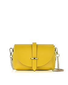 Caviar Small Yellow Leather Shoulder Bag - Le Parmentier