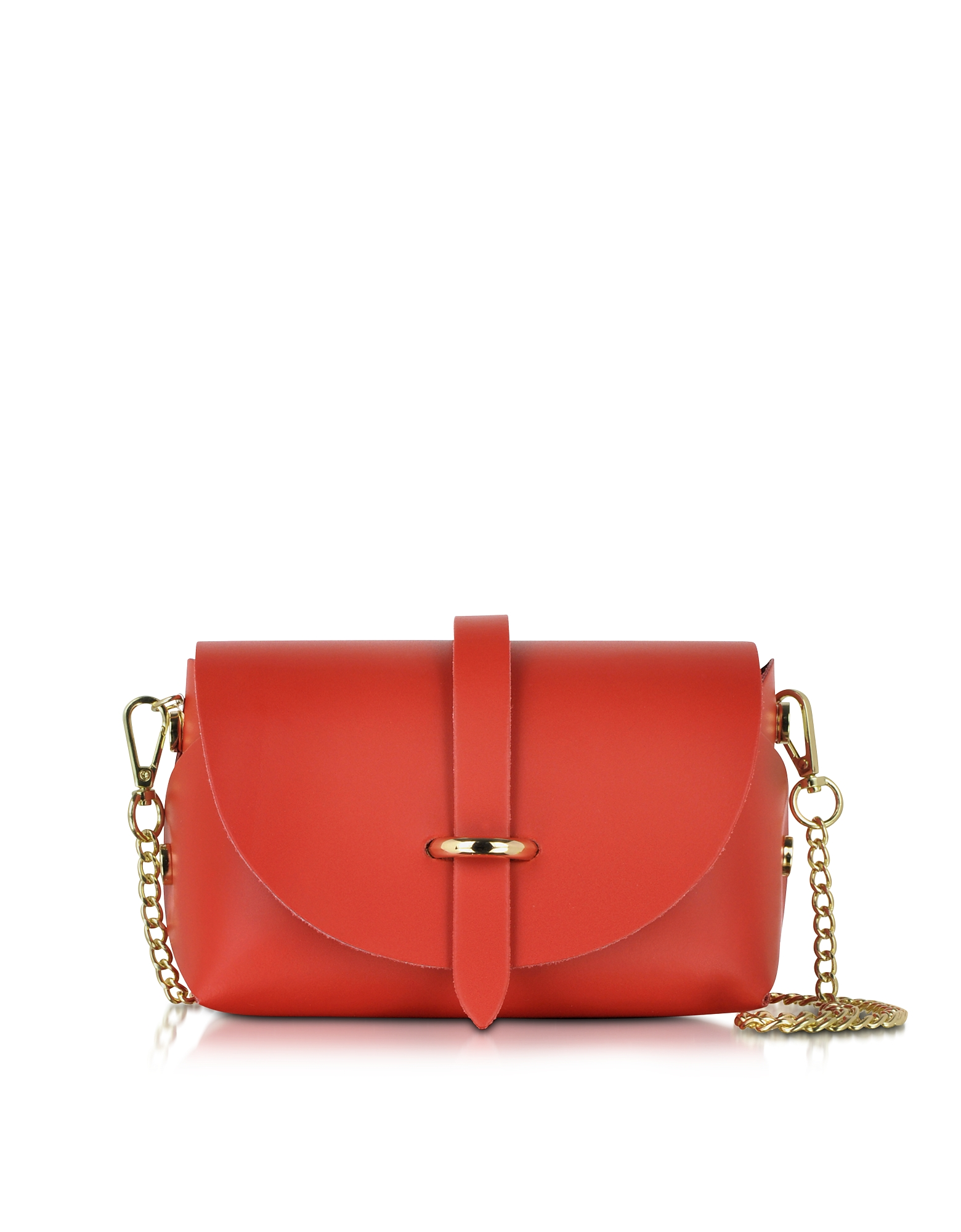 Le Parmentier Handbags, Caviar Small Red Leather Shoulder Bag