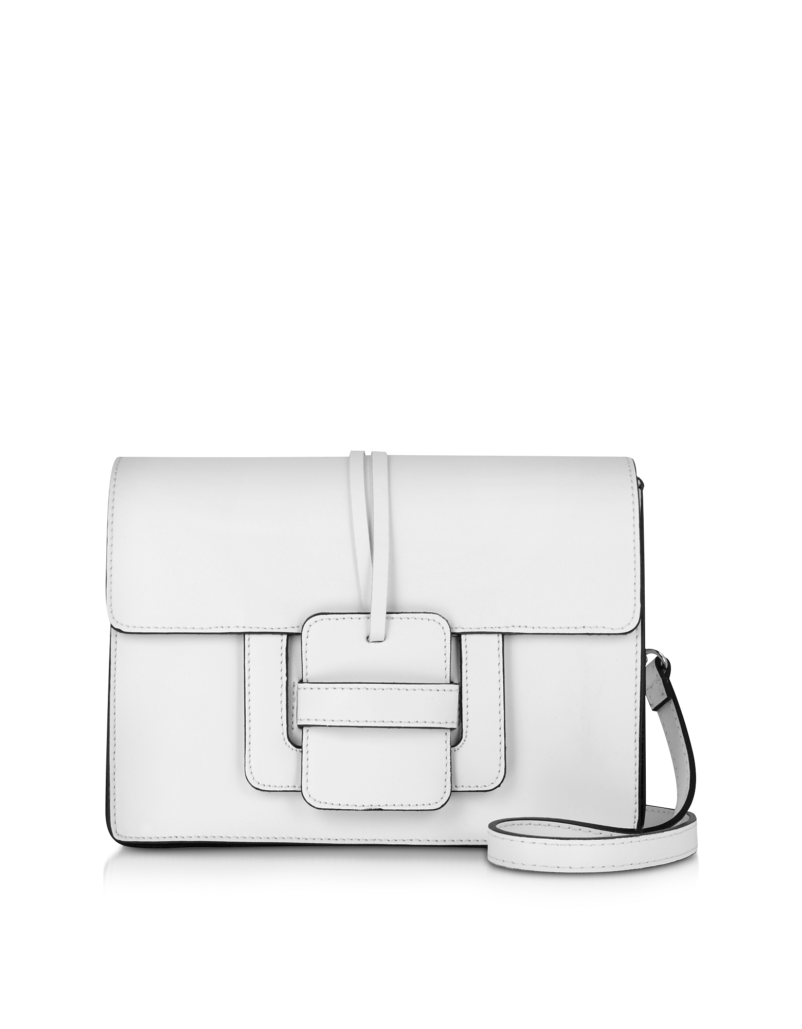 Le Parmentier Handbags, White Leather Shoulder Bag