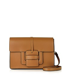 Cognac Leather Shoulder Bag - Le Parmentier