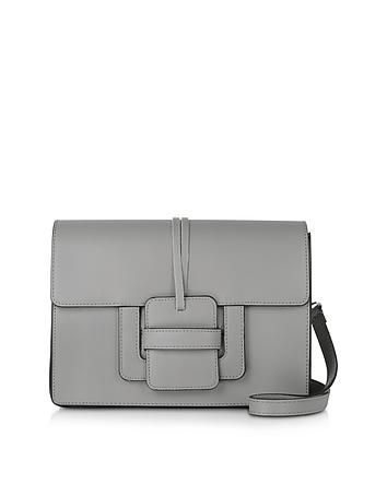 Le Parmentier - Gray Leather Shoulder Bag