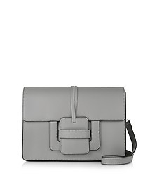 Gray Leather Shoulder Bag - Le Parmentier