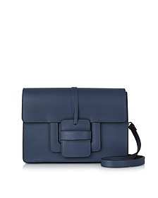 Navy Leather Shoulder Bag - Le Parmentier