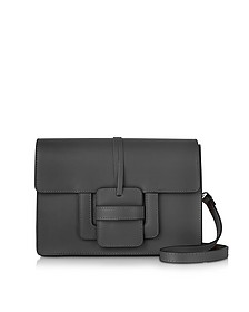 Black Leather Shoulder Bag - Le Parmentier