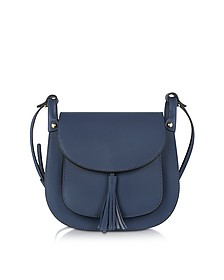 Buttercup Navy Leather Crossbody Bag - Le Parmentier