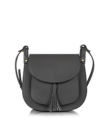 Buttercup Black Leather Crossbody Bag - Le Parmentier