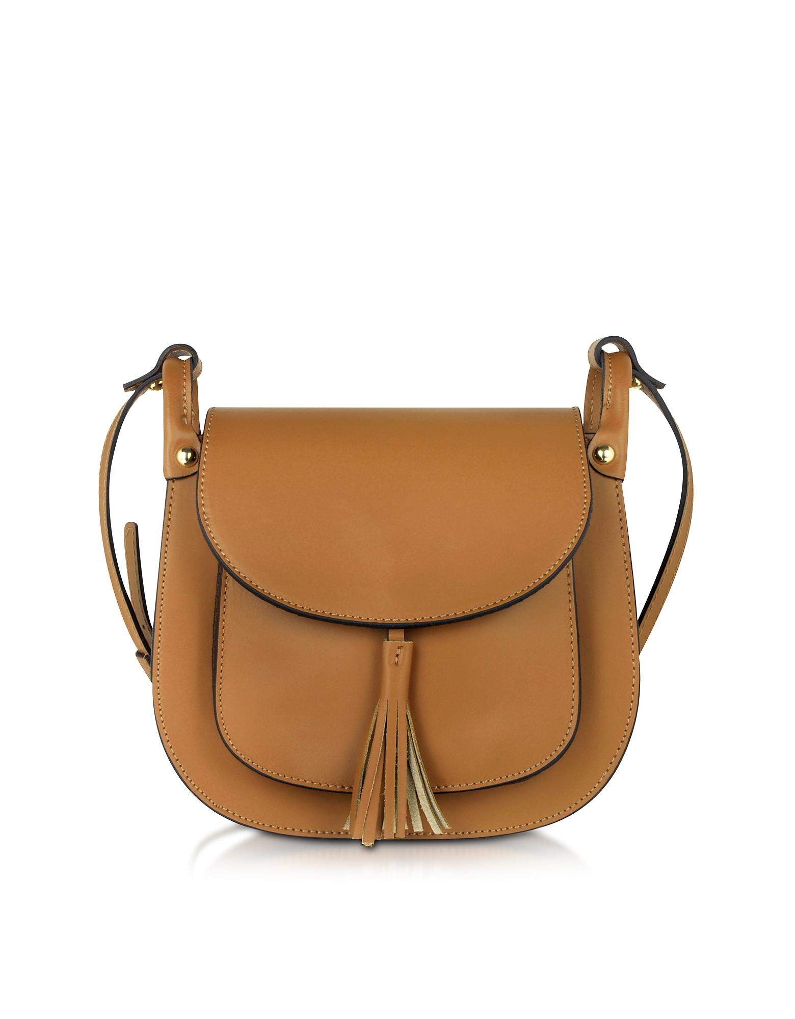 Le Parmentier Handbags, Buttercup Cognac Leather Crossbody Bag