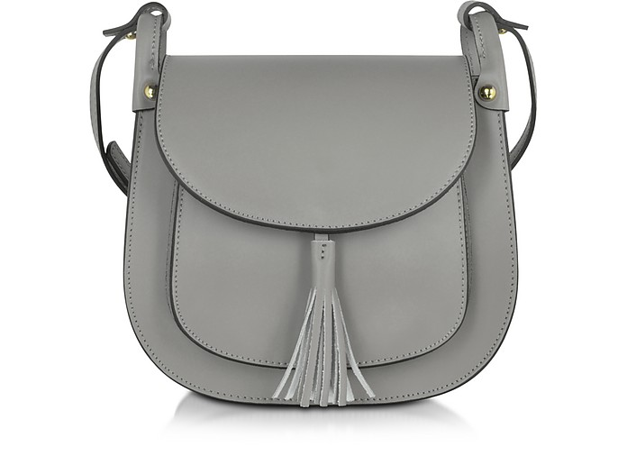 Gray Leather Crossbody Bag - Le Parmentier