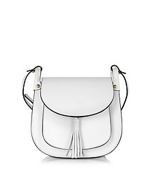 Buttercup White Leather Crossbody Bag - Le Parmentier