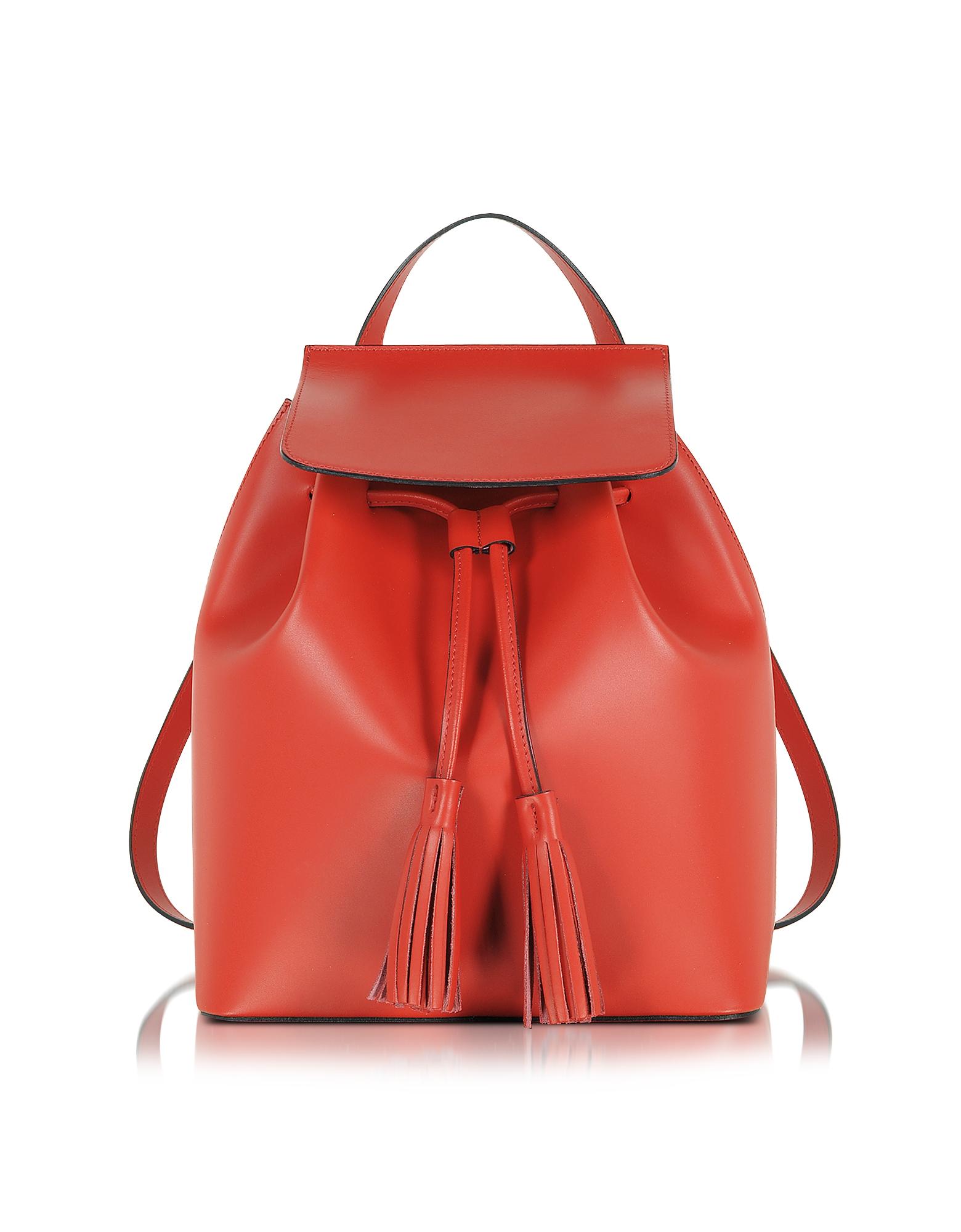 Фото Красный Кожаный Рюкзак. Купить с доставкой