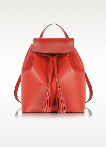 Le Parmentier Красный Кожаный Рюкзак