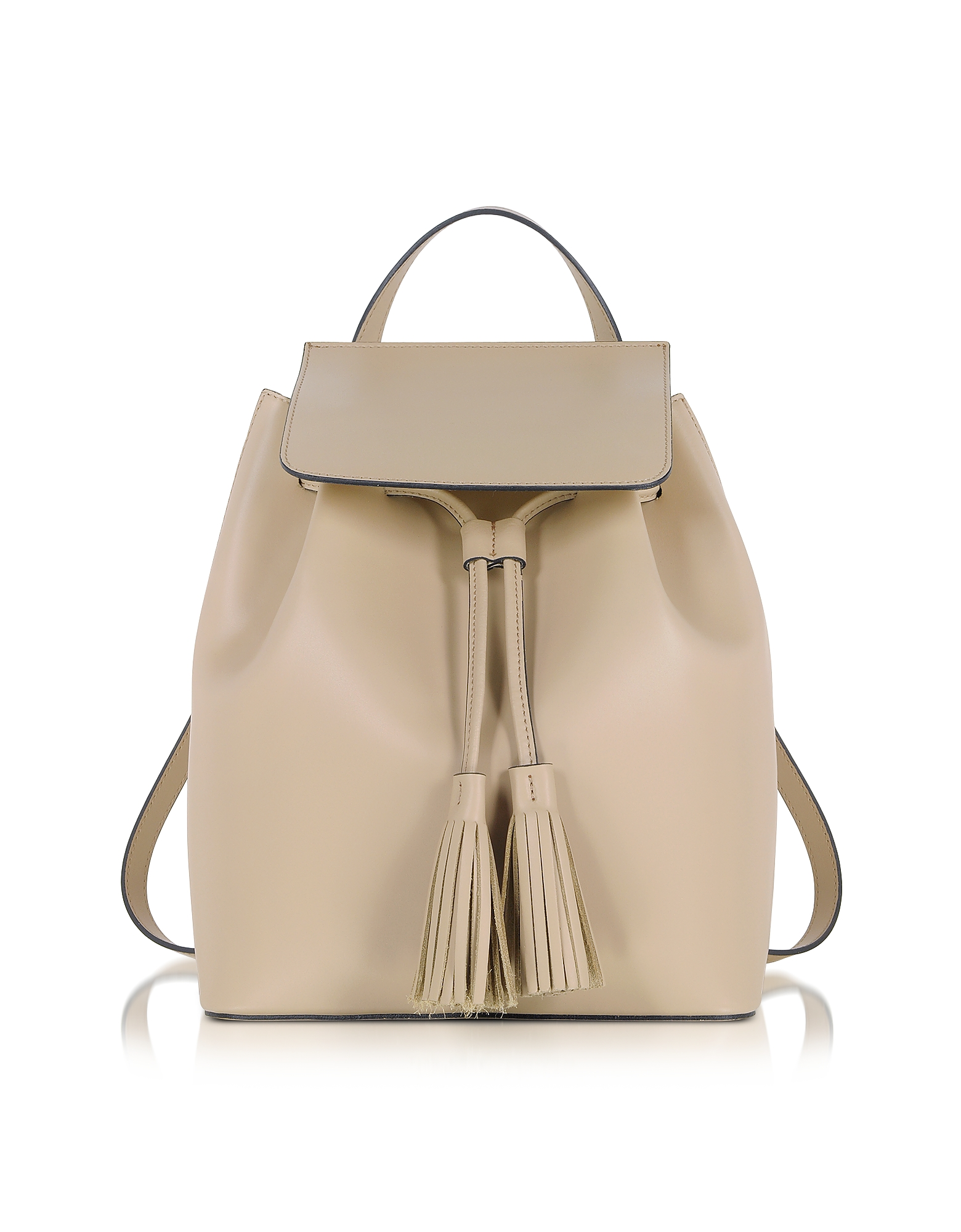 Le Parmentier Handbags, Nude Leather Backpack