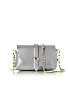 Caviar Metallic Leather Mini Shoulder Bag - Le Parmentier