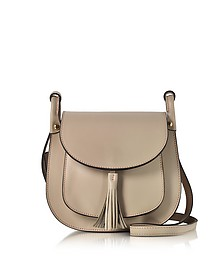 Buttercup Nude Leather Shoulder Bag w/Tassel - Le Parmentier