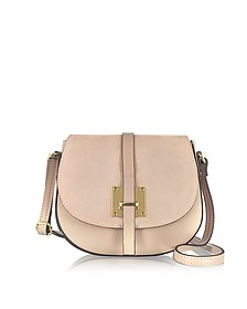 Pollia Powder Leather and Suede Crossbody Bag - Le Parmentier