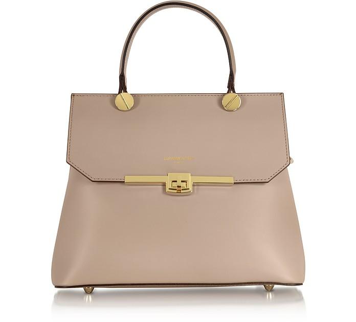 Atlanta Genuine Leather Top Handle Satchel Bag W/Shoulder Strap - Le Parmentier