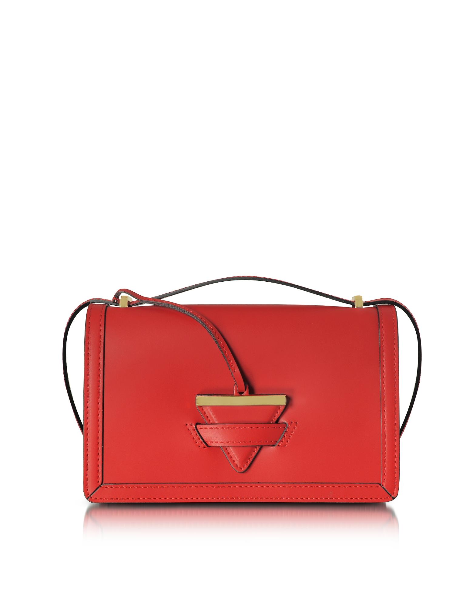 Le Parmentier Handbags, Diodora Shoulder Bag w/Triangle Charm