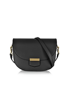 Clio Smooth Leather Flap Shoulder Bag - Le Parmentier