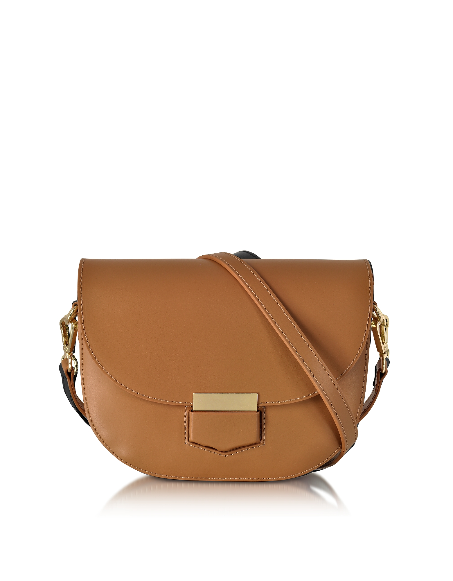Le Parmentier Handbags, Clio Smooth Leather Flap Shoulder Bag