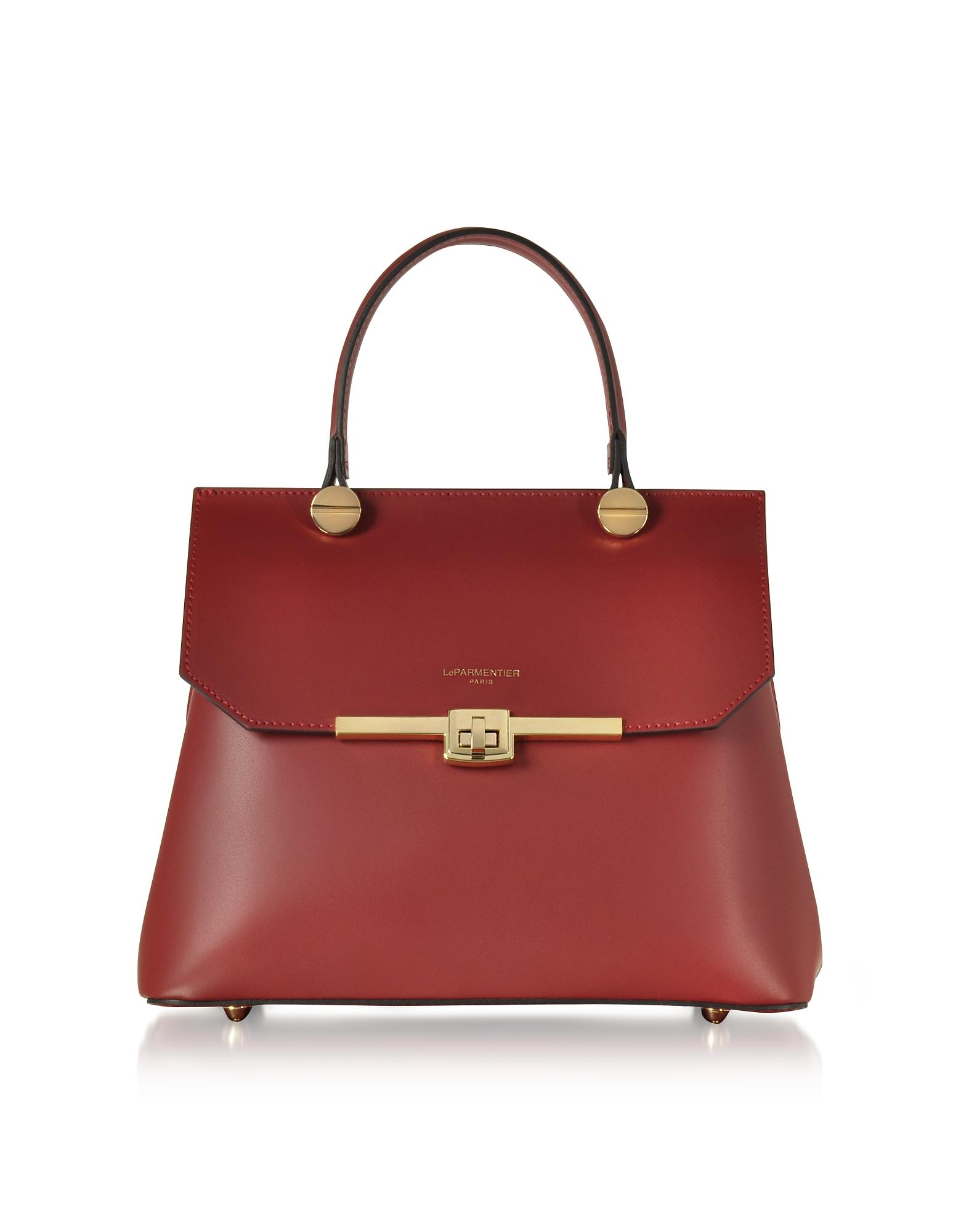 Le Parmentier Handbags, Atlanta Top Handle Satchel Bag w/Shoulder Strap