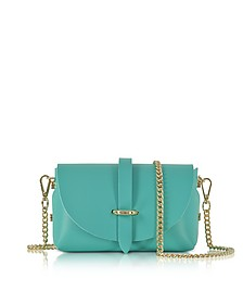 Caviar Small Turquoise Leather Shoulder Bag - Le Parmentier