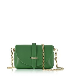 Caviar Small Green Leather Shoulder Bag - Le Parmentier
