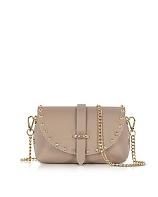 Caviar Mini Nude Leather Shoulder Bag w/Studs - Le Parmentier