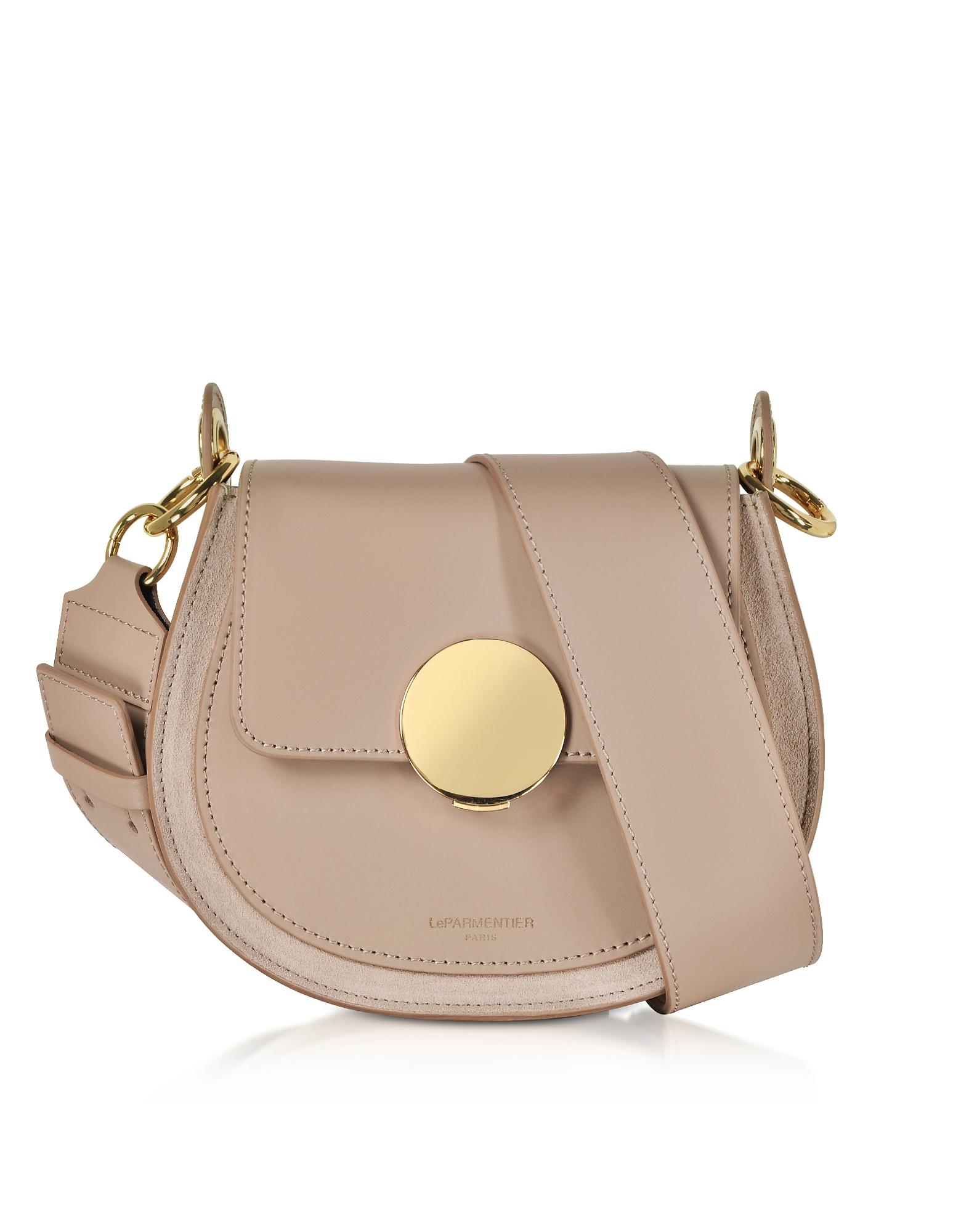 Le Parmentier  Handbags Yucca Suede and Leather Shoulder Bag