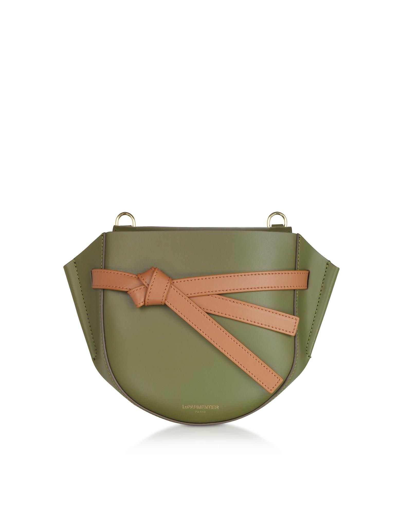 Le Parmentier  Handbags Peyote Smooth Leather Shoulder bag w/Bow