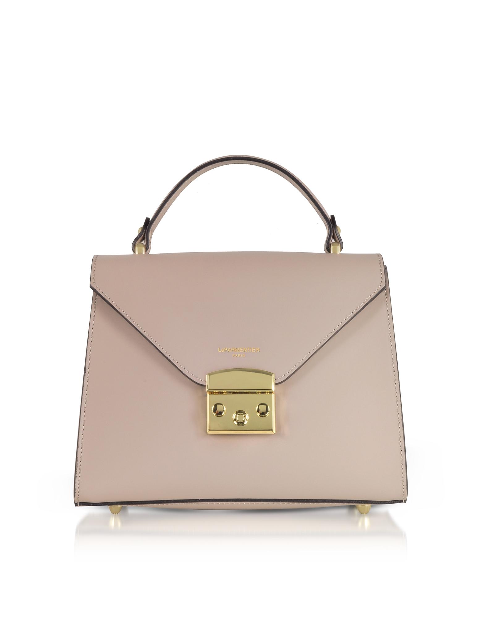 Le Parmentier Handbags, Peggy Leather Top Handle Satchel Bag